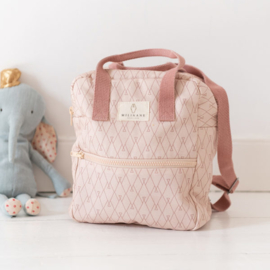 Milinane - NOE  Graphic backpack and Terracotta
