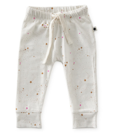 smal baby broekje - off white caramel pink stars - Little Label