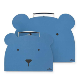 Jollein Speelkoffertje Animal club steel blue (2pack)