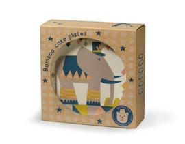 Bamboe Set 6x taartbordjes Circus