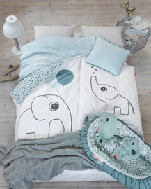 Bedlinen Junior Eplhee Blue - Done By Deer