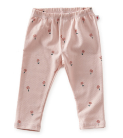 basis baby broekje - light pink flowers - Little Label