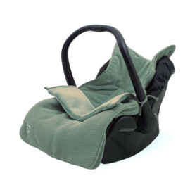 Voetenzak voor Autostoel & Kinderwagen - Basic Knit - Forest Green - Jollein