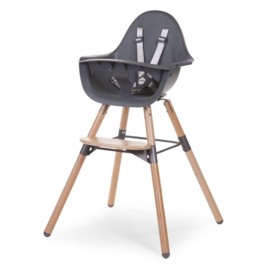 Childhome - EVOLU 2 STOEL NATUREL / ANTHRA 2 in 1+BEUGEL