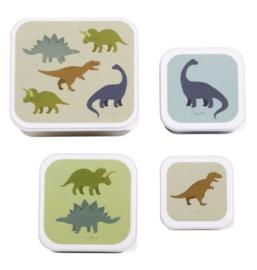 A Little Lovely Company Lunch & snack box set Dinosaurussen