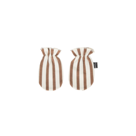SCRATCH MITTENS Toffee Stripes ( one size ) - House Of Jamie
