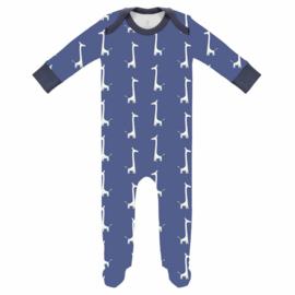 Fresk newborn Pyjama met voet Giraf indigo blue