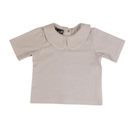 Basic T-shirt Collar Sand - CarlijnQ
