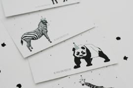 Uitnodigingen met dierenprint