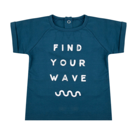 Shirt Find Your Wave Legion Blue - Little Indians