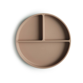 MUSHIE - SILICONE PLATE - NATURAL STICK & STAY