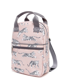 Backpack white tigers S - Petit Monkey
