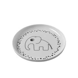 Done by deer - Yummy Plate Happy Dots grey