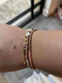 Meter / Metie armbandje Gold/Peach - Milalicious