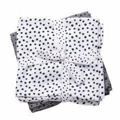 Swaddles 2 pack Grey Happy Dots