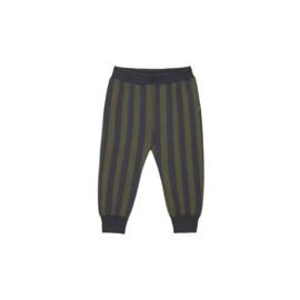 Sweatpants - Moss & Blue Stripes - HOJ