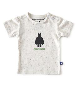 Little Label - baby jongens shirt korte mouw - multi speckle