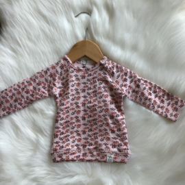 SWEATER PINK AOP LEAF - Riffle