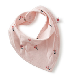 baby bib - light pink flowers - Little Label