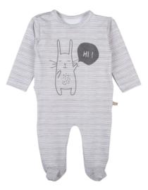 Pyjama Allover Streep Bunny