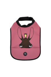 High Neck Bib - Moose Blush Burgundy - Babylivia