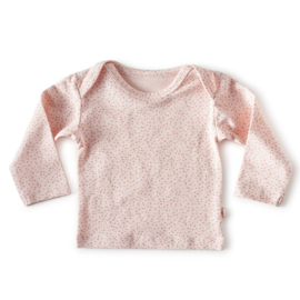 Baby shirt lange mouw Light pink dot - Little Label