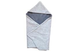 Wikkeldoek, grey confetti/ Old blue teddy