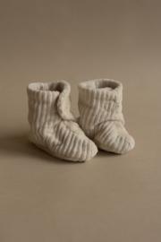 Babyslofjes | ribvelvet | new born | Naturel - Nanami