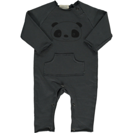 Panda playsuit anthracite - Beans