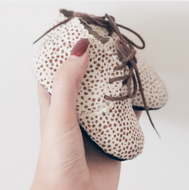 Salted Cream Dots Dolly Boots - MOONS
