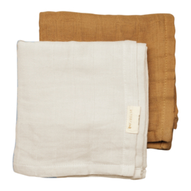 Fabelab - MUSLIN CLOTH - 2 PACK - FAWN