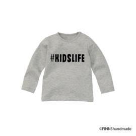 Longsleeve T-shirt #kidslife - Finnshandmade