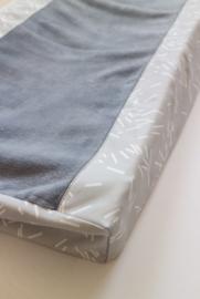 Aankleedkussenhoes, grey confetti/ Old blue teddy