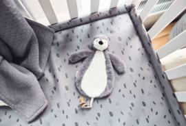 Speendoekje Pinguïn - Storm Grey - Jollein