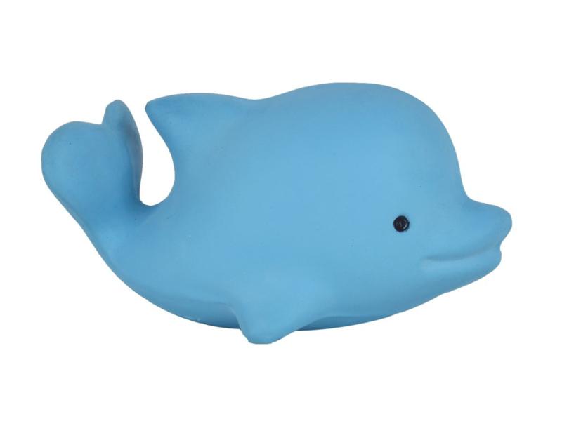 Tikiri Bijt- en Badspeelgoed met Rammelaar - Dolfijn