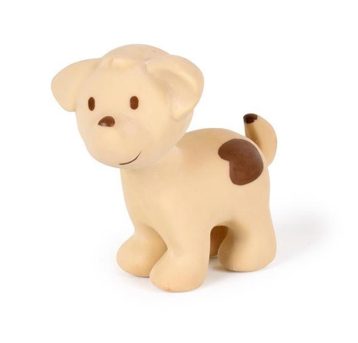 Tikiri Bijt- en Badspeelgoed met Rammelaar - Hond