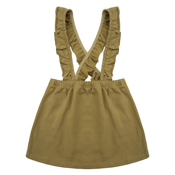 Salopette Dress Olive - Little Indians
