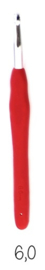 Opry softgrip haaknaald 6.0 mm