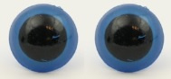 Veiligheidsogen blauw 15 mm (per stuk)