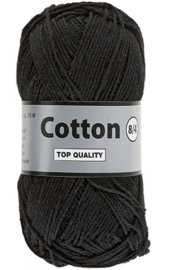 Cotton 8/4 001 zwart