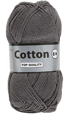 Cotton 8/4 002 donkergrijs