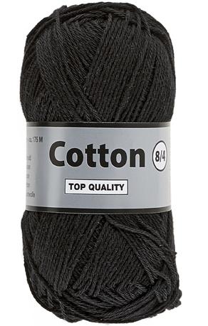 Cotton 8/4 001 zwart