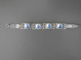 Filigrain armband met vier stenen