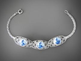 Mooie armband, stenen uit Atelier Verwoerd, 18 cm