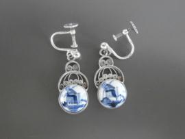 Prachtige oorhangers in zilver filigrain