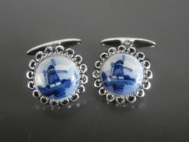 Manchetknopen Delftsblauw