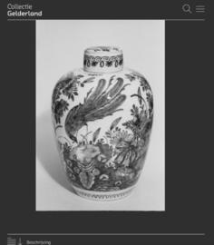 219; Fraaie eivormige pot, 1700-1740