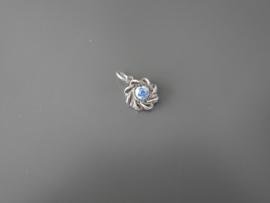 Kleinst mogelijke  delftsblauwe steentje in hangertje