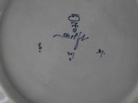 De Porceleyne Fles, Wandschotel 29 cm.