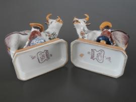 Makkums stel koeien met melk(st)er,  Tichelaar